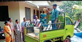 The MRPC's mobile rice milling unit goes from door-to-door