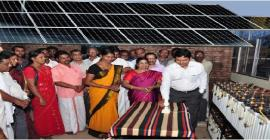 Inauguration of the Power Plant by District Collector